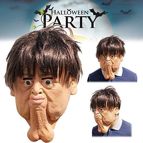Lustig Doppel Kostüm - Gmxop Gesichtsmaske Erwachsene Doppel Chins Lustig Horror Scary Kostüm Party Halloween