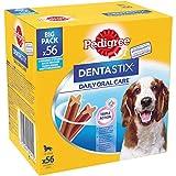 Pedigree Dentastix - Friandises pour moyen chien, 56 bâtonnets à mâcher pour l'hygiène bucco-dentaire (8 sachets de 7 Sticks)