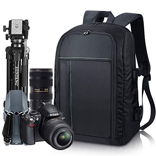 Estarer Sac a dos Appareil Photo Reflex en Nylon pour Ordinateur Portable 15,6', Sac Photo pour...