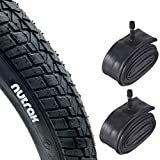 Nutrak 20' x 2.0 (54-406) BMX Bike Freestyle Tyres with Schrader Inner Tubes (Pair)