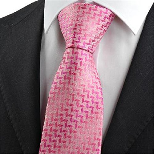 rosa diamanten muster männer krawatte krawatte (Diamant-muster-krawatte)