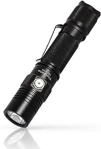 ThruNite TN12 V4 LED Taschenlampe Super Hell Taktische Taschenlampe Doppelschalter 1000 Lumen Wasserdicht IPX8 18650 Akku für Outdoor, Abenteuer, Jagd (ohne Batterie) - Neutralweiß