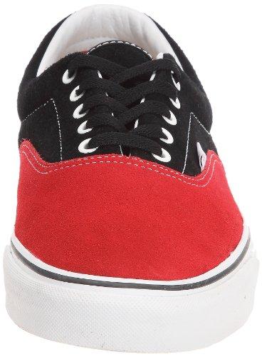 Vans  Era, baskets - skateboard mixte adulte Noir - Schwarz (Black/Red)