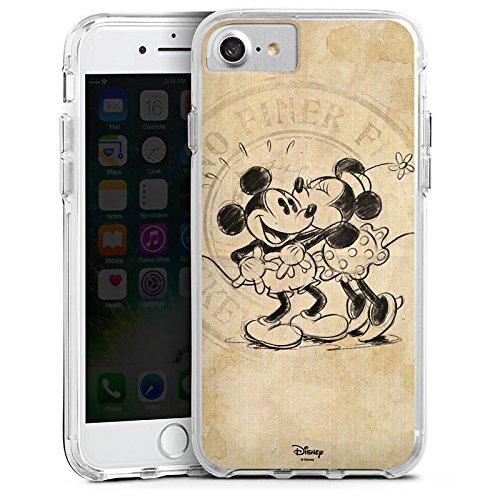 Apple iPhone X Bumper Hülle Bumper Case Glitzer Hülle Disney Minnie & Mickey Mouse Geschenke Merchandise Bumper Case transparent