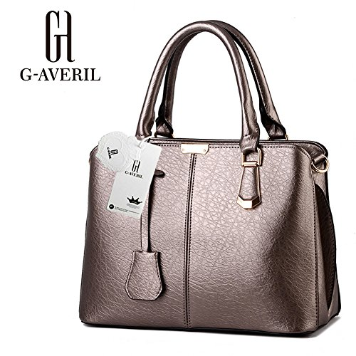 (G-AVERIL) Borsa A Tracolla Borse Donna Borsa Sacchetto In Pelle Cartella Sacchetti bronzo