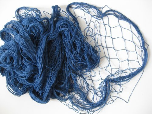Deko Fischernetz Blau 200x400cm Baumwolle 2. Wahl mit Farbfehlern