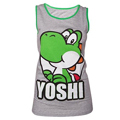 Nintendo Yoshi Tank Top (Damen) -L- Grau