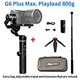 feiyu G6Plus 3-Axis Brushless Handheld stabilisateur Splash-Proof 800G Payload 12Hours Running Time for Smartphone, Action Camera GoPro, Digital Cameras, Including Tripod and Extension Rod