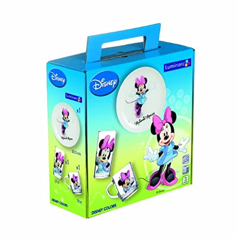 Luminarc, Serie Minnie Mouse, Kinderset 3-teilig, mit farbenfrohem Design