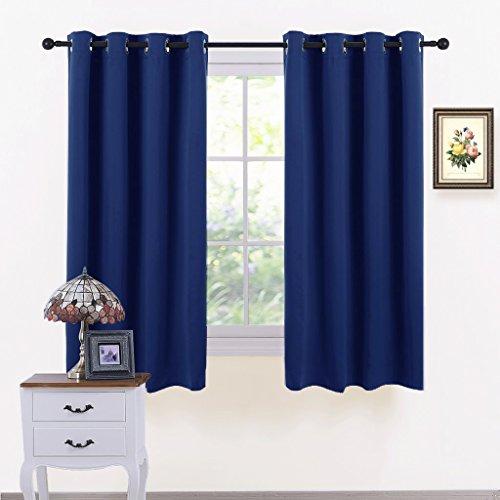 Pony dance tende termiche per interni blu tende oscuranti camera da letto, 116 x 137 cm (largo x lungo), un paio