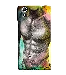 Omnam Old Man With Ab Effect Printed Designer Back Cover Case For Micromax Selfie 2 Q340