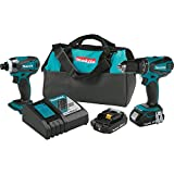 Makita XT273R 18V LXT Lithium-Ion Compact Cordless 2-Pc. Combo Kit (2.0Ah)