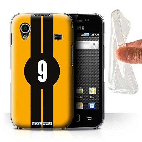 Stuff4® Gel TPU Hülle/Hülle für Samsung Galaxy Ace/Ford/Gelb Muster/Rennwagen Streifen Kollektion