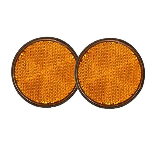 Wooya 2Pcs 2Inch Round Reflektoren Orange Universal for Motorcycles ATV Bikes Dirt Bikes