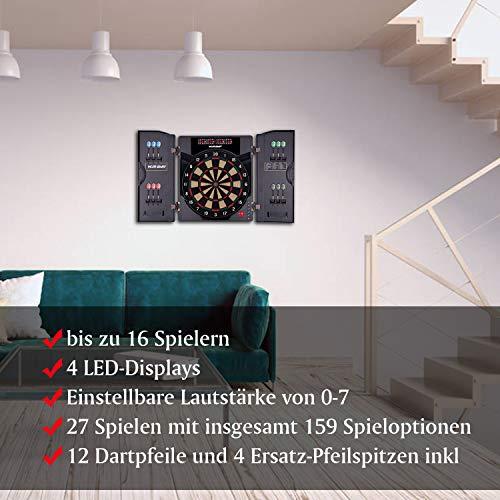 WIN.MAX Elektronische Dartscheibe mit Kabinett - 7