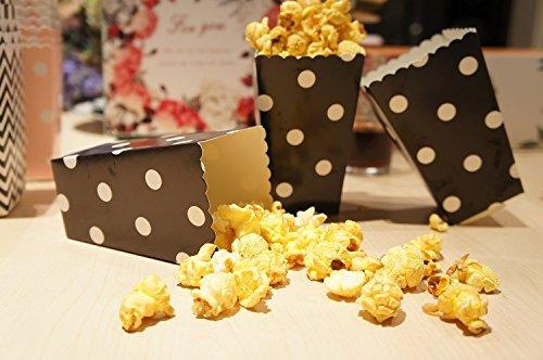 60 pièces boîtes Bol enveloppe Pop Corn pois carton taille petite noir
