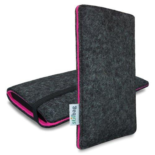 Stilbag Filztasche 'FINN' für Apple iPhone 6 - Farbe: anthrazit/pink