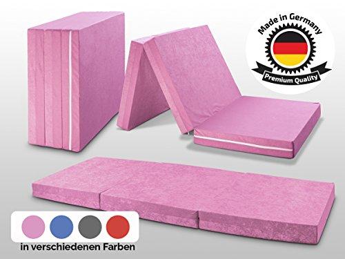 MADE IN GERMANY - Faltmatratze Klappmatratze DANIELA 80x195x10cm - abnehmbar & waschbarer Bezug - als Gästebett, Gästematratze, Notbett...