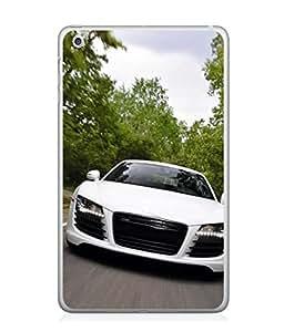 PrintVisa Designer Back Case Cover for Apple iPad Mini 4 (white classy car forest view)