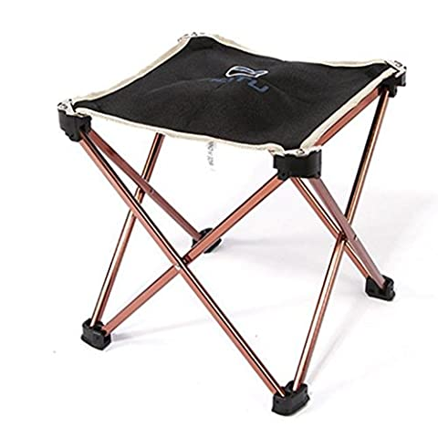 Portable Folding Camping Chair - Kingwo Outdoor Folding Aluminum Chair Stool Seat Children Chair for Aotu Fishing Camping with Carry Bag
