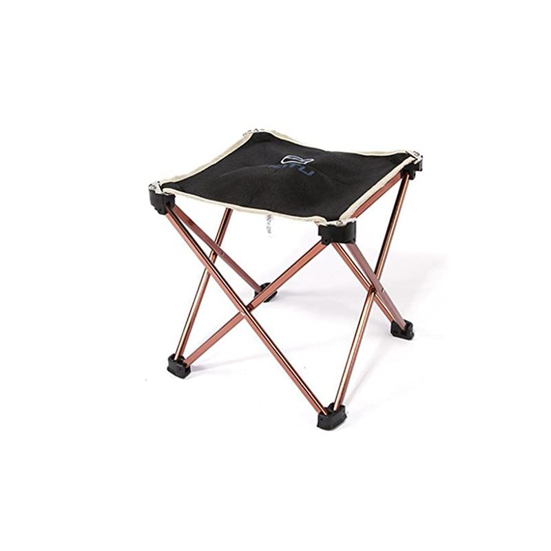 Portable Folding Camping Chair – Kingwo Outdoor Folding Aluminum Chair Stool Seat Children Chair for Aotu Fishing…