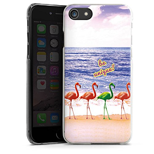 Apple iPhone X Silikon Hülle Case Schutzhülle Sprüche Flamingo Strand Hard Case transparent