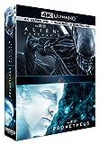 Coffret alien 2 films : covenant ; prometheus 4k ultra hd
