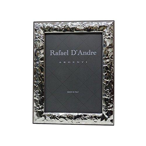 Cornice Portafoto Lucida Effetto Stropicciato cm 13x18 in Argento