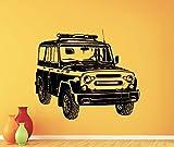 fancjj UAZ Wall Garage Sticker Art Mural Home Room Car Removable 57x65cm Sticker Mural Fille Noir Arbre Enfant Salon Cuisine