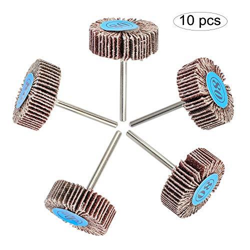 10 piezas OOTSR papel de lija aleta rueda 80 grano