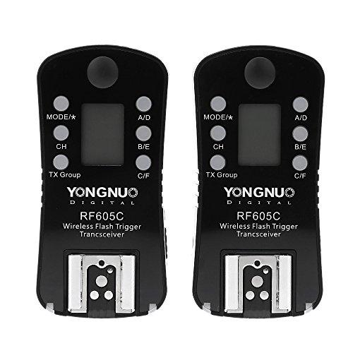 YONGNUO RF605C Kabellose Fernbedienung für Blitz & Auslöser für Canon-Kameras, 16 Kanäle