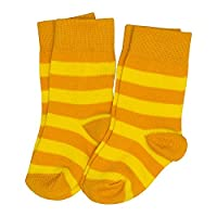 Maxomorra Socks - Yellow/Orange Stripes - UK 2-3 / EU34-36