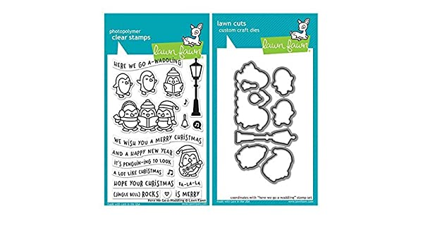 "Avery Elle /""FA LA LA/"" Clear Stamps Only OR Clear Stamp and Die Bundle"