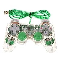USB 2.0 Mando Regulador Controlador Gamepad para Ordenador Portátil PC Tableta Verde