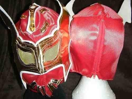 Sin Cara rot WWE Wrestling Maske Stil Kostüm Verkleidung Kostüm Outfit Wrestlemania 2013 Etiketten Team Anzug, Ausrüstung