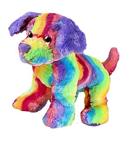 Stuffems Toy Shop Kuschelige 16 Zoll Stuffed Regenbogen-Streifen Hund .Wir Sachen 'em .Sie lieben' em! -
