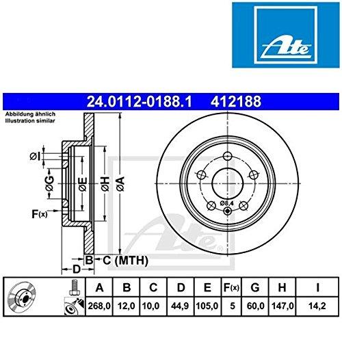 ATE 24.0112-0188.1 Bremsscheibe - (Paar)