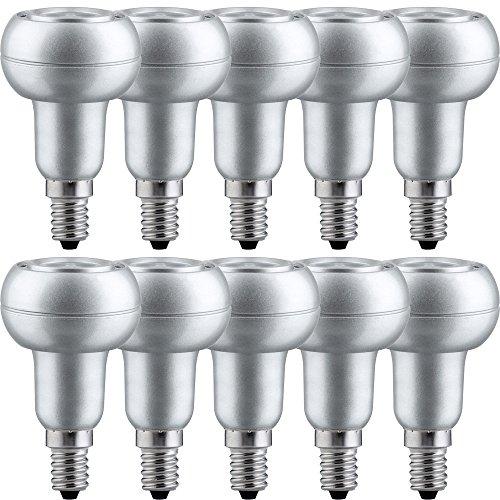 10 x LED Leuchtmittel Reflektor R50 4,5W = 40W E14 warmweiß 2700K flood 24° -