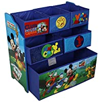 Childrens Toy Storage Unit Box Organiser Wooden Multi Tray - Kids Bedroom Playroom Furniture