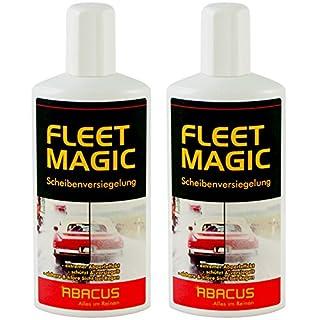ABACUS Fleet Magic 2X 250 ml (7101) - Scheibenversiegelung Glasversiegelung Windschutzscheiben-Versiegelung Scheiben Glas Regenabweiser Wasserabweiser unsichtbarer Scheibenwischer Abperleffekt