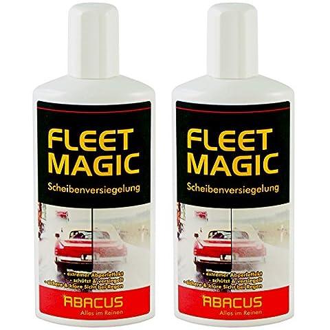 Fleet Magic 2x 250ml (7101)–-- Disque versiegelung Verre étanchéité pare-brise de scellage Disques Verre pluie Déflecteurs d'air eau Déflecteurs d'air invisible essuie-glace Nano effet effet lotus Effet déperlant