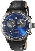 CERRUTI UDINE CRA096F222G - Reloj para hombres, correa de cuero color negro de CERRUTI