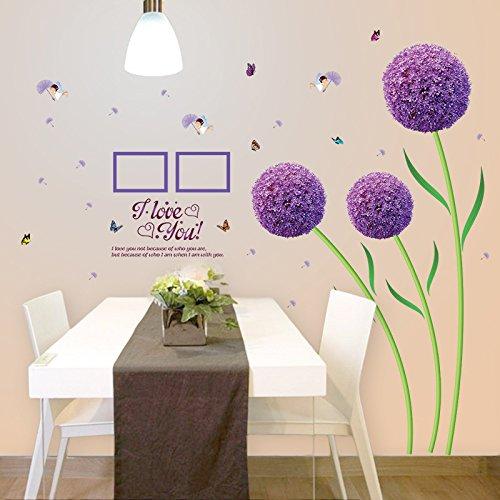 Mznm Purple Hydrangea Warmen Schlafzimmer Wohnzimmer Wanddekoration Können Entfernt - Hydrangea-bilder Lila