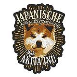 Aufkleber Wetterfest Akita Inu 13 cm oder 40 cm Hund Dog Geschenk Japanische