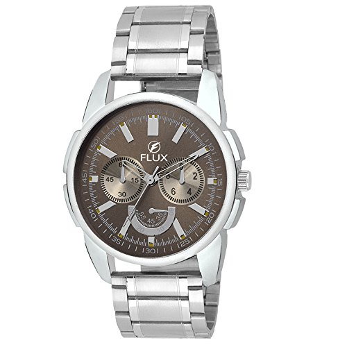 Flux Bare Basics Analog Brown Dial Men's Watch-WCH-FX268  available at amazon for Rs.899