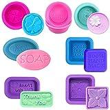 REYOK 2PCS stampi in Silicone per Sapone, 6 cavità Soap Making Molds, Forma Ovale Rettangolare, per Torte, Sapone, Sapone, Torte, Biscotti, Cioccolato, Muffa, Ice Cube Rosa