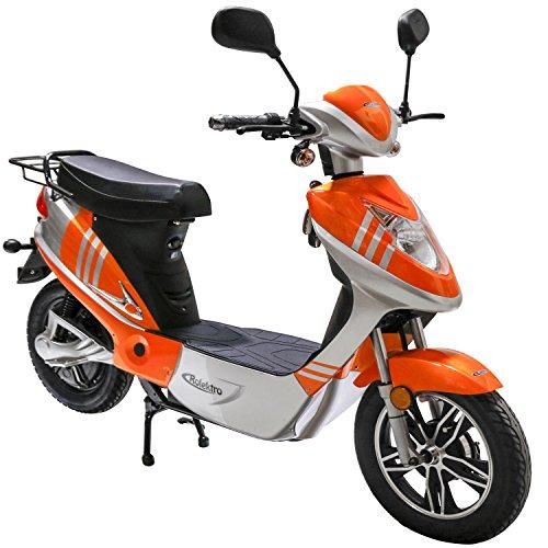 Rolektro eco-City 20 V.2 Orange-Silber Elektroroller 20 Km/H Straßenverkehrszulassung 500W E-Scooter Keine Helmpflicht
