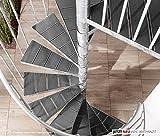 Intercon® K2 Wood Edition Außentreppe Stahltreppe WPC Durchmesser 120 / 140 / 160 / 180 / 200 cm in braun oder anthrazit (160 cm, Lava-Anthrazit)