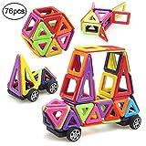 Bloques de construcción de Bloques magnéticos de 76 Piezas Juegos educativos para niños, de Morcare Construction Building Sets