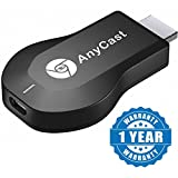 #6: Olectra Anycast Chromecast M2 Plus Wifi Wireless Display Dongle for Mirroring , Miracast, Screen Mirroring, Airplay, DLNA , Youtube , Netflix , Spotify Anycast HDMI Dongle for Android /IOS Devices(Colour-Black)